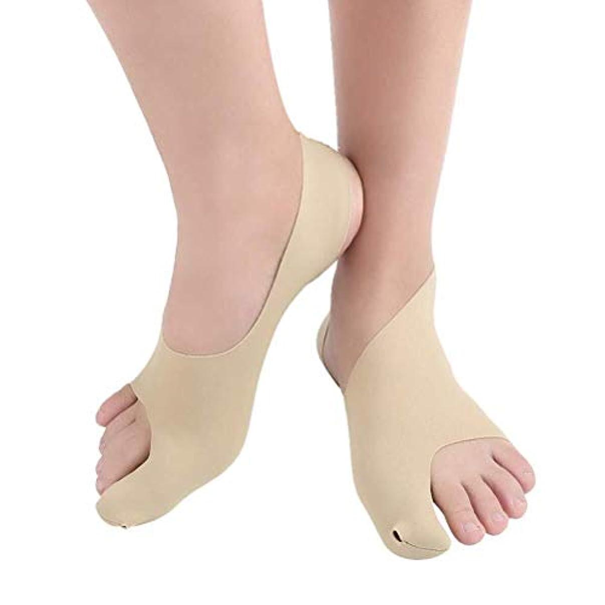 省略する移動する港足の親指腱膜補正器外反母趾矯正昼夜親指矯正靴下足ケアストレートナー