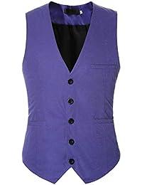 ジレ ベスト メンズ おしゃれ ビジネス フォーマル 無地 スリム 男性用 スーツ ベスト Vネック 紳士 3ポケット 5ボダン 尾錠付き カジュアル 結婚式 大きいサイズ 9カラー
