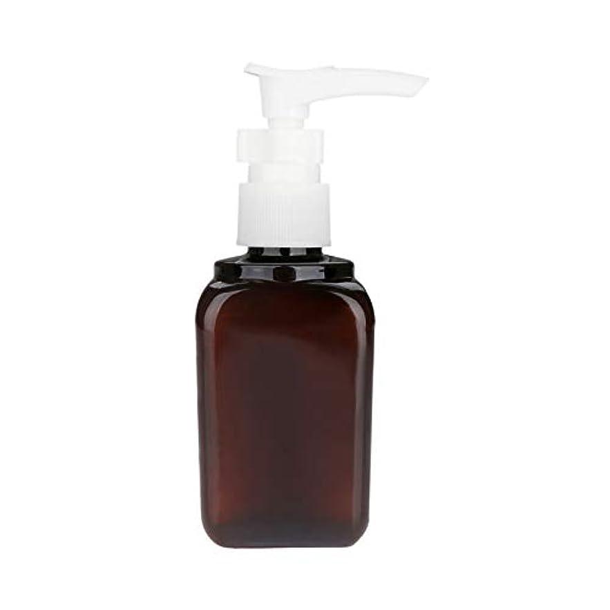 深める大工積分5本 押し式ボトル ポンプ瓶 ポンプボトル 遮光瓶 ドロップポンプ 泡立て 詰め替え シャンプーハンドソープ 茶色 PET製