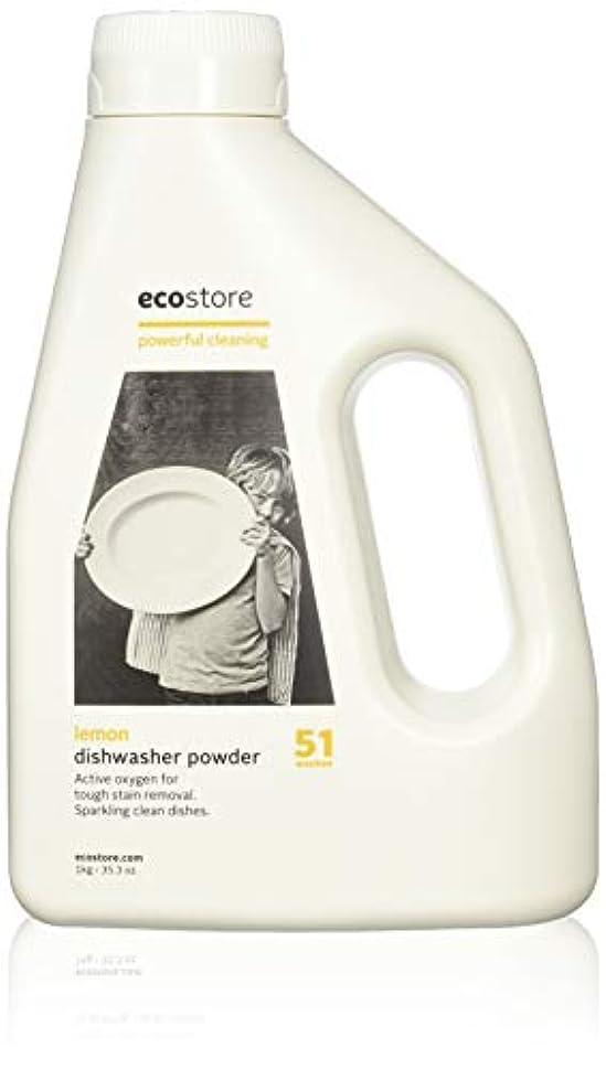 扱う原稿縞模様のecostore(エコストア) オート ディッシュウォッシュパウダー  【レモン】 1kg 自動食器洗浄機用 粉末 洗剤