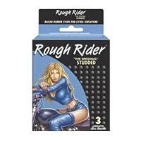 Rough Rider Singles THE ORIGINAL STUDDED CONDOMS Premium Lubricated Latex Condoms - 12 Packs 3 Condoms in Each Pack (36 Condoms Total) by Rough Rider