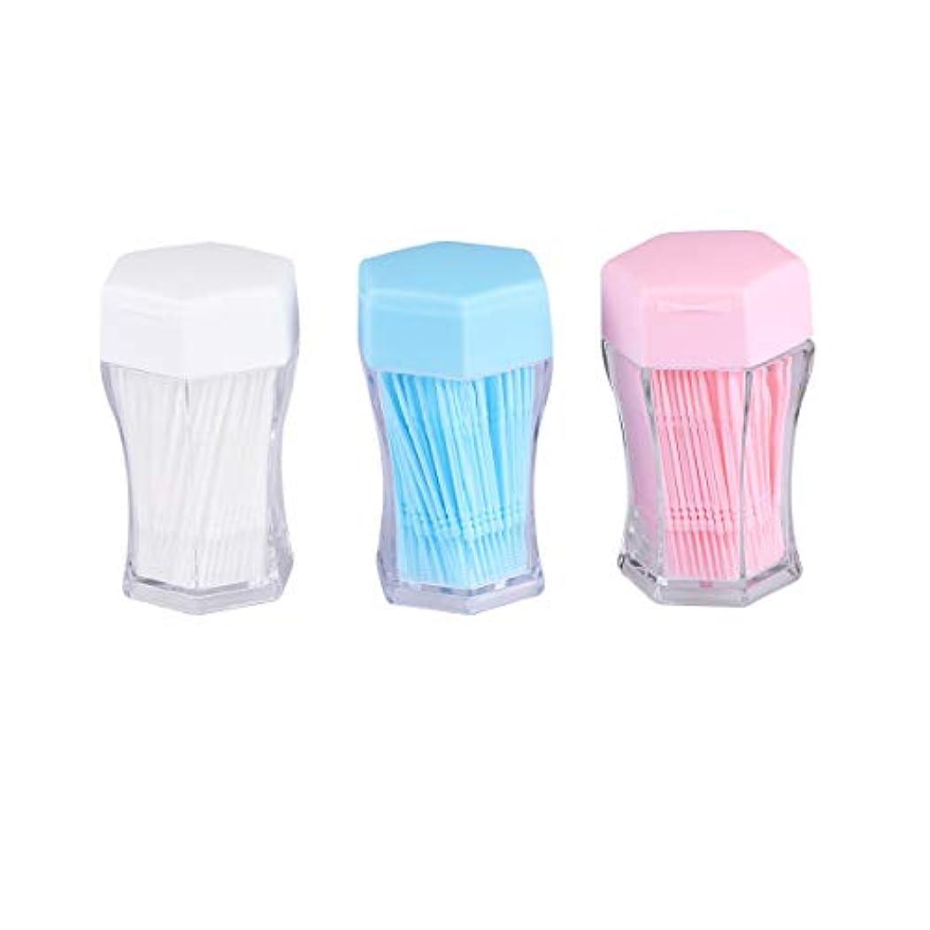 SUPVOX 歯間ブラシクリーナー歯磨き粉ブラシ口腔ケア用具(白、青、ピンク、各色200個)