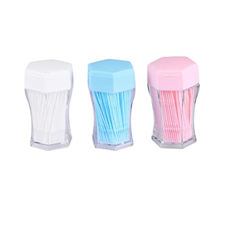 ベンチャー無線マディソンSUPVOX 歯間ブラシクリーナー歯磨き粉ブラシ口腔ケア用具(白、青、ピンク、各色200個)