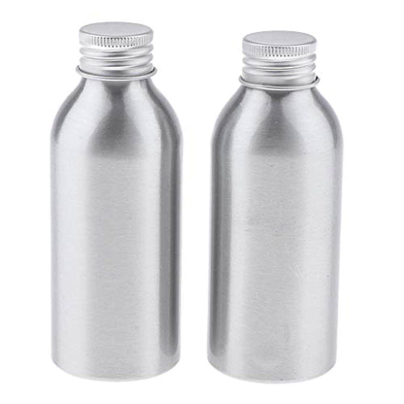 印象的な穴シールドディスペンサーボトル 空ボトル アルミボトル 化粧品ボトル 詰替え容器 広い口 防錆 全5サイズ - 120ml