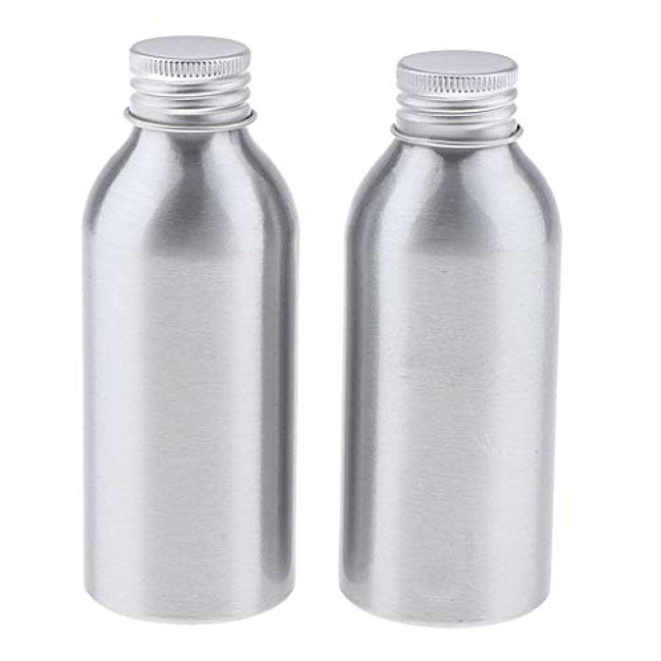 オープナー宣言防腐剤2本 アルミボトル 空容器 化粧品収納容器 ディスペンサーボトル シルバー 全5サイズ - 120ml