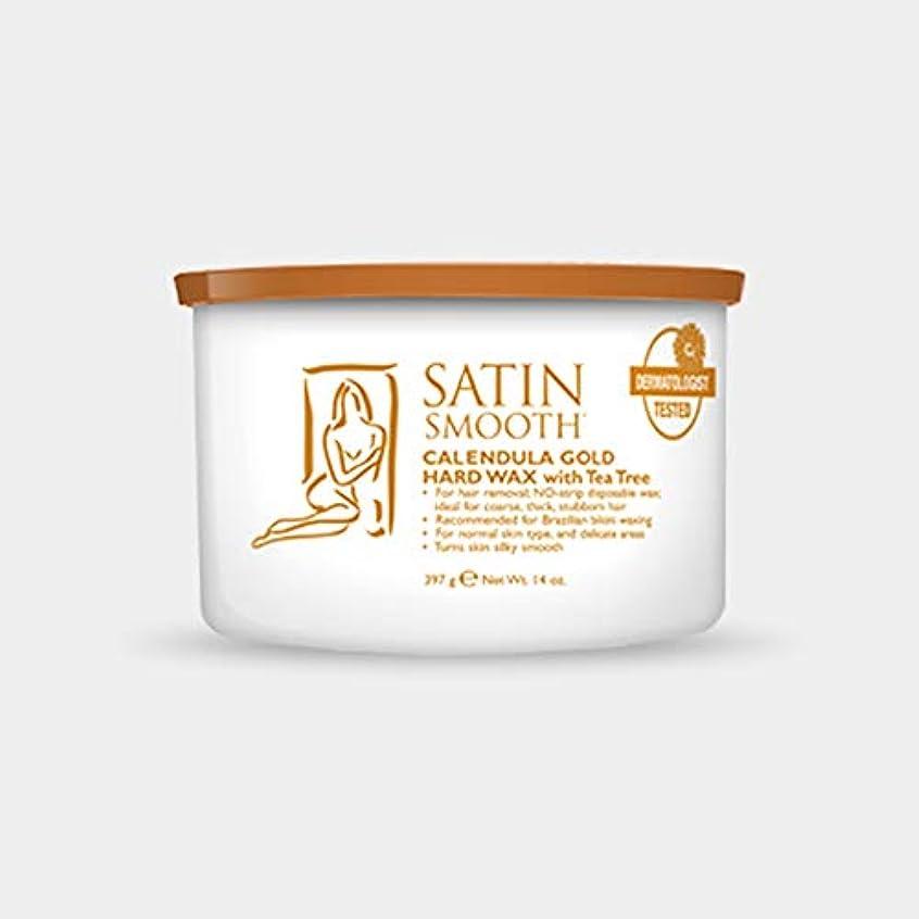 石膏瞑想救援Satin Smooth Calendula Gold Hard Wax With Tea Tree Oil (並行輸入品)