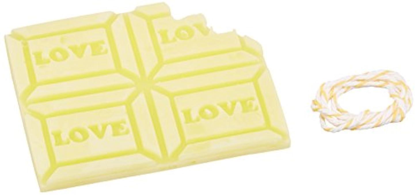 取得する防腐剤伝染性のGRASSE TOKYO AROMATICWAXチャーム「板チョコ(LOVE)」(YE) ベルガモット アロマティックワックス グラーストウキョウ