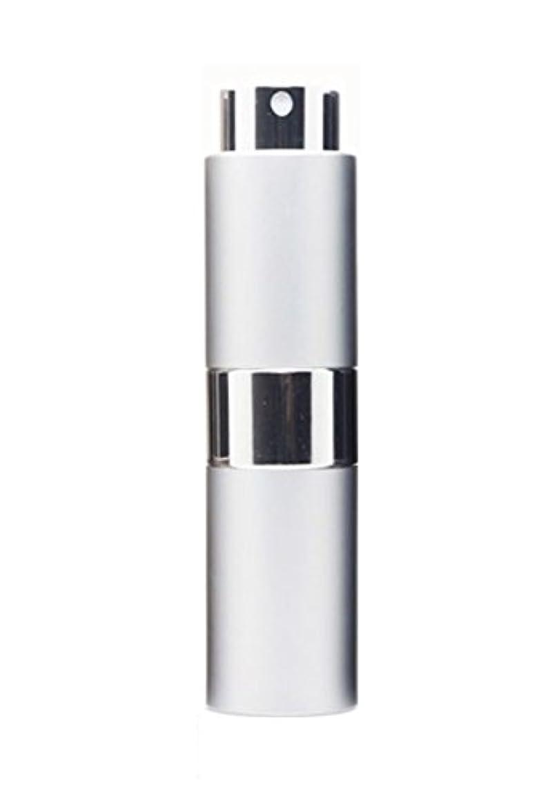 ヘルメット寄生虫置くためにパックNYSh 香水 アトマイザー プッシュ式 スプレー 詰め替え 携帯 身だしなみ メンズ 15ml (シルバー)
