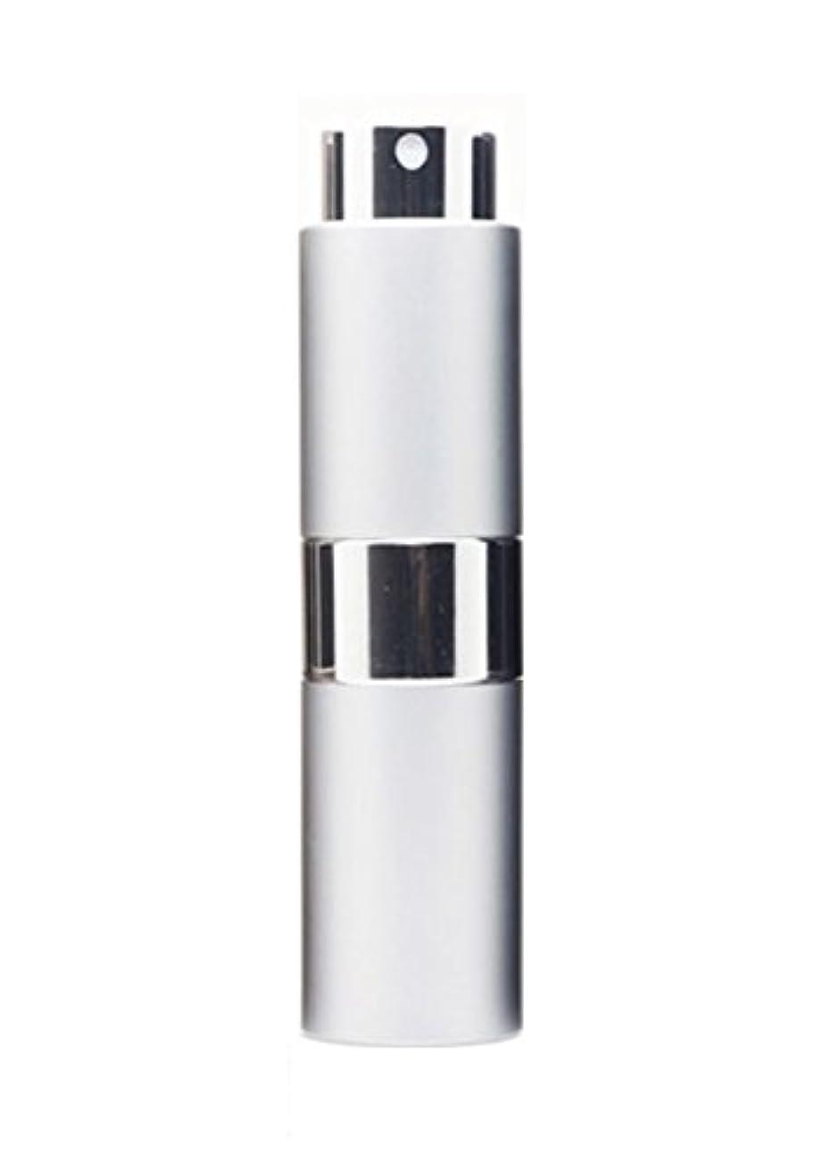 測定可能迷路固執NYSh 香水 アトマイザー プッシュ式 スプレー 詰め替え 携帯 身だしなみ メンズ 15ml (シルバー)