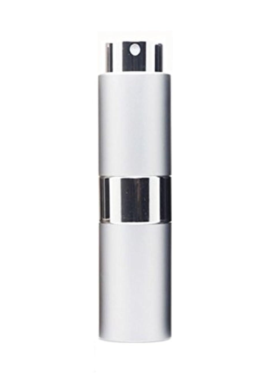 違法含む詳細なNYSh 香水 アトマイザー プッシュ式 スプレー 詰め替え 携帯 身だしなみ メンズ 15ml (シルバー)