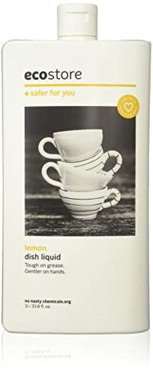 くちばしずんぐりしたシンプルなecostore エコストア ディッシュウォッシュリキッド  【レモン】 1L  食器洗い用 洗剤