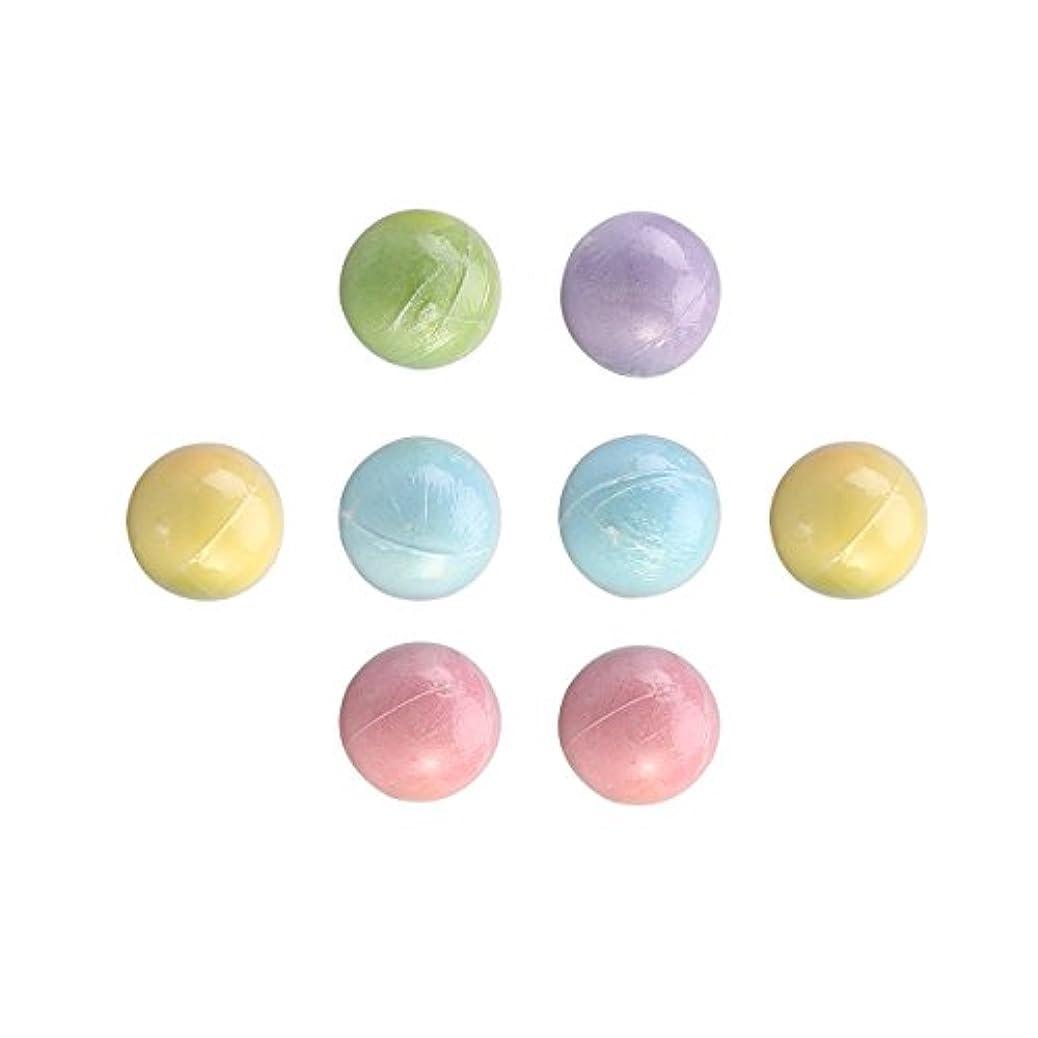 一握り未使用打ち上げるROSENICE 入浴剤ボール バス用品 入浴用品  8個入り 70g(混合色)