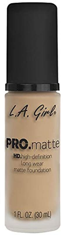 ミス異常愛情L.A. GIRL Pro Matte Foundation - Nude (並行輸入品)