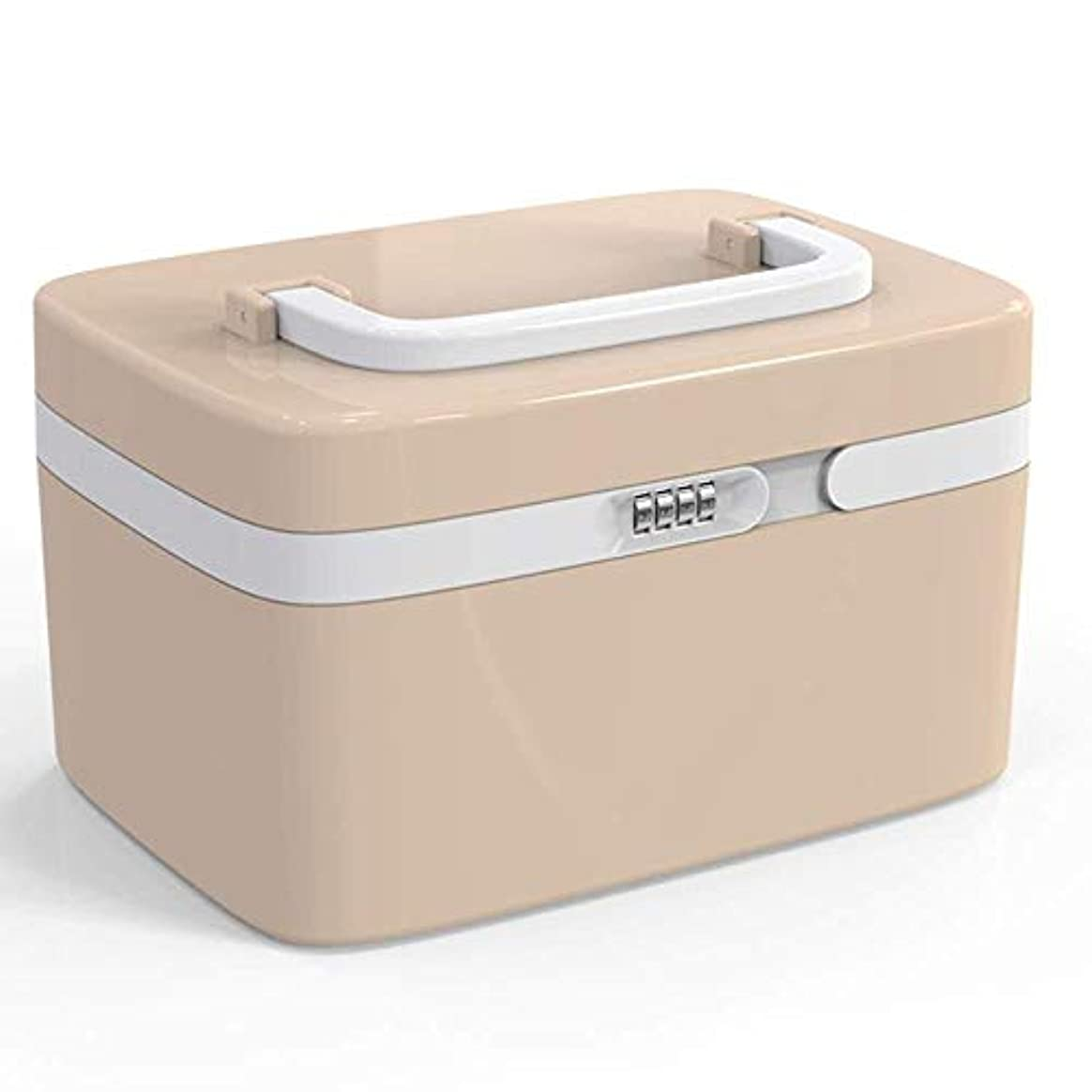 Yxsd 応急処置キット ロックされた在宅医療ボックス健康応急処置キットプラスチック製の小さなパスワード薬箱薬収納ボックス (Color : B)