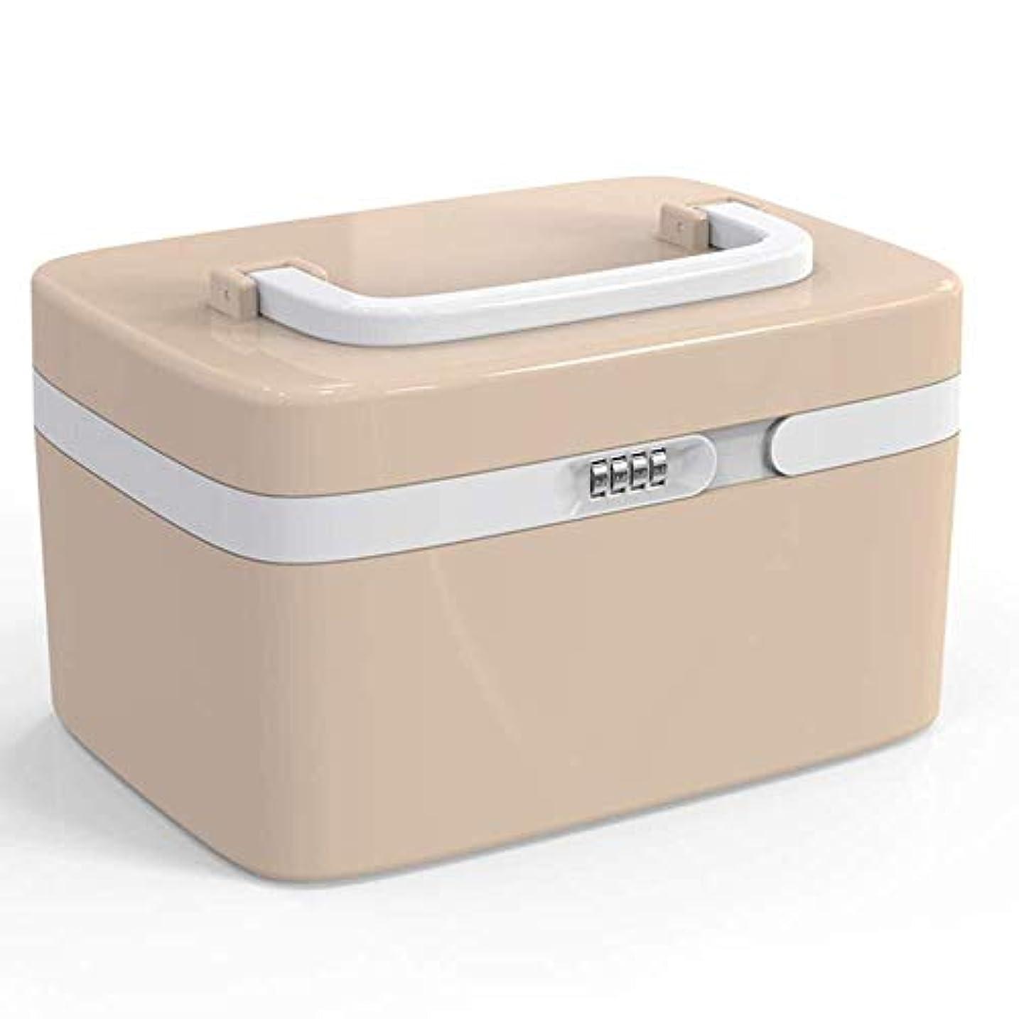 パトワ賞習字Yxsd 応急処置キット ロックされた在宅医療ボックス健康応急処置キットプラスチック製の小さなパスワード薬箱薬収納ボックス (Color : B)