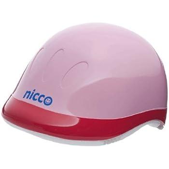 クミカ工業 nicco(ニコ) ハードシェル キッズヘルメット 49-54cm 日本製 ピンク KH001