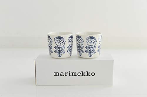 marimekko VIHKIRUUSU ラテマグ ブルー 2個セット 36(150)【69550】