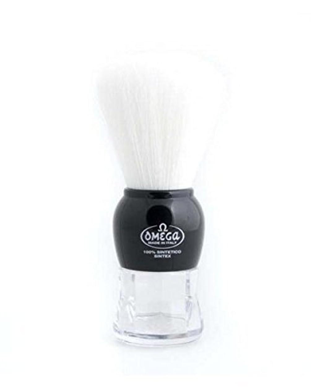 優遇ギャラリー言語Omega Shaving Brush # 90072 100% Synthetic Syntex BLACK [並行輸入品]