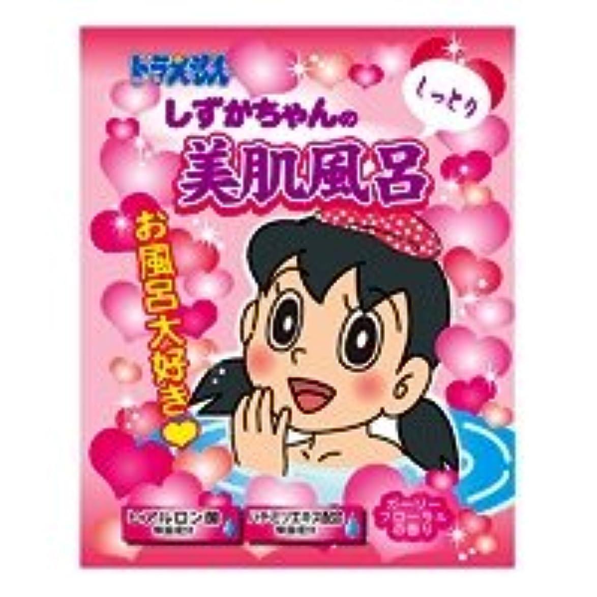 り魔術掻くドラえもんバスパウダー「しずかちゃんの美肌風呂」12個セット クリーミーピンクのお湯 かわいいお花ガーリーフローラルの香り