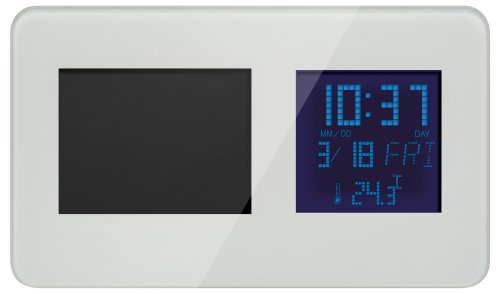 GREEN HOUSE 多機能デジタルフォトフレーム (320x240ピクセル) ホワイト GHV-DFC35RDW