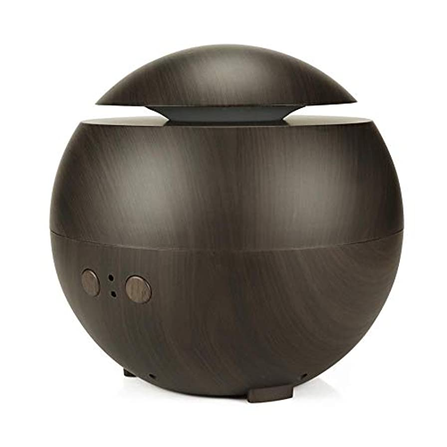 アロマ加湿器 超音波式加湿器 アロマディフューザー ABSとPP製 600ml 大容量 シンプル おしゃれ 静音 空焚き防止 耐腐食性 長持ち使える 木目調 Styleshow