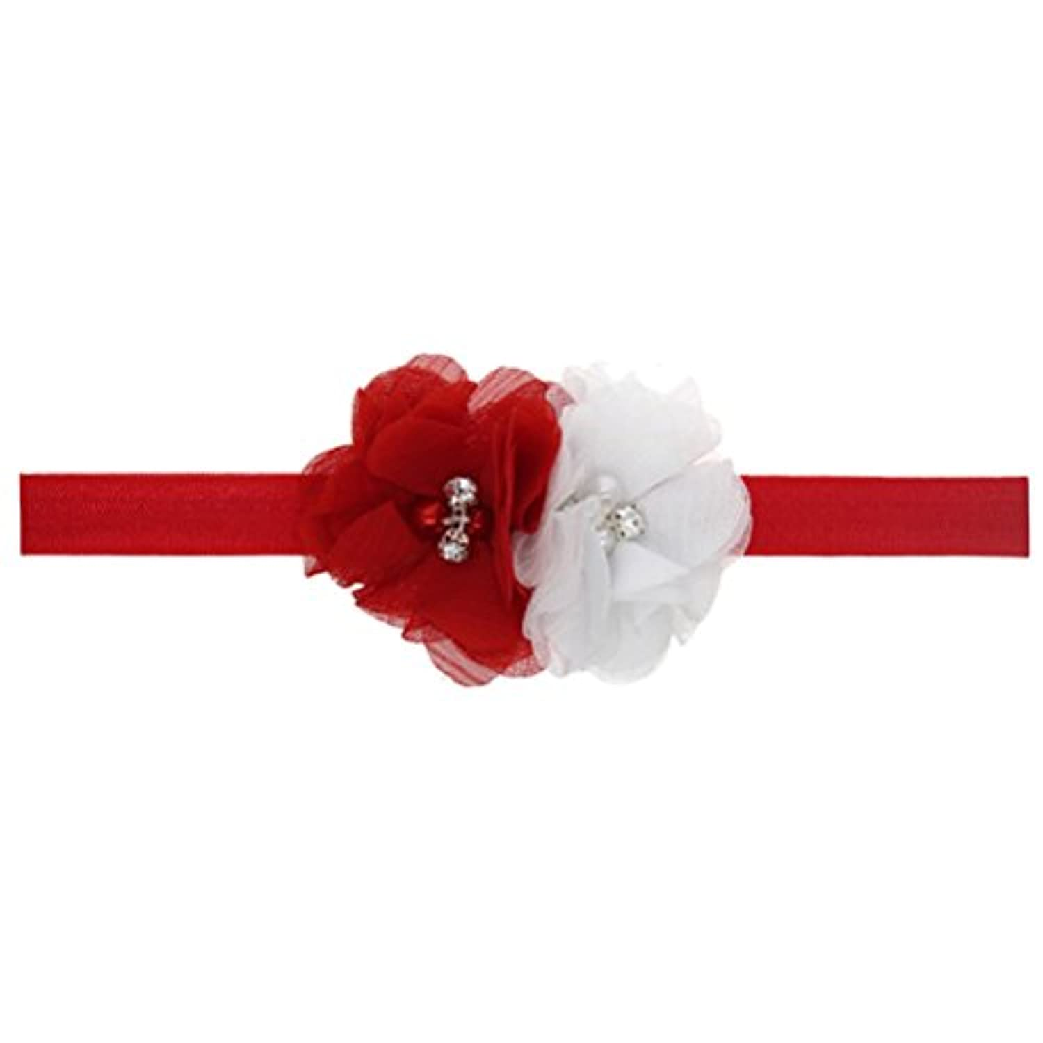 Zhhlaixing ベビー小物 Kids Baby Girls Soft Elastic Flowers Headband Hairband Hair Accessories for Christmas 5123