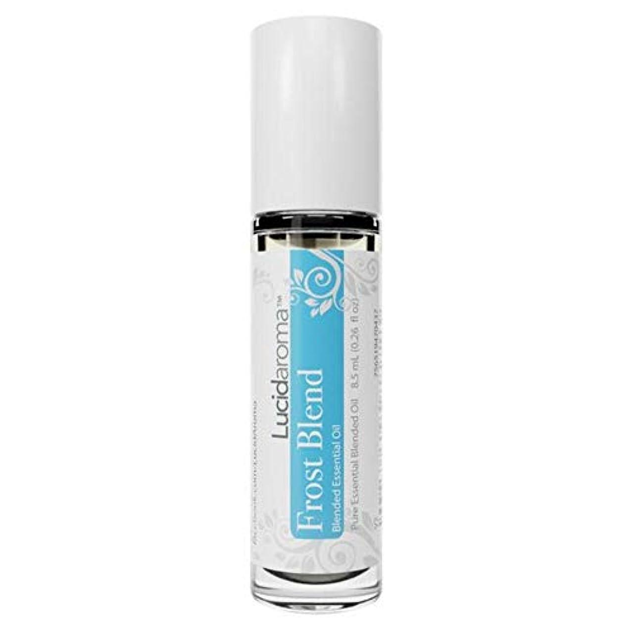 フットボール始まりからLucid Aroma Frost Blend フロスト ブレンド ロールオン アロマオイル 8.5mL (塗るアロマ) 100%天然 携帯便利 ピュア エッセンシャル アメリカ製