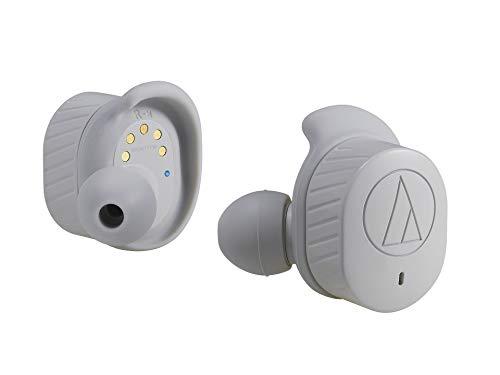 オーディオテクニカ audio-technica 完全ワイヤレスイヤホン ATH-SPORT7TW GY 防水 スポーツ用 Bluetooth対応 左右分離型 グレー