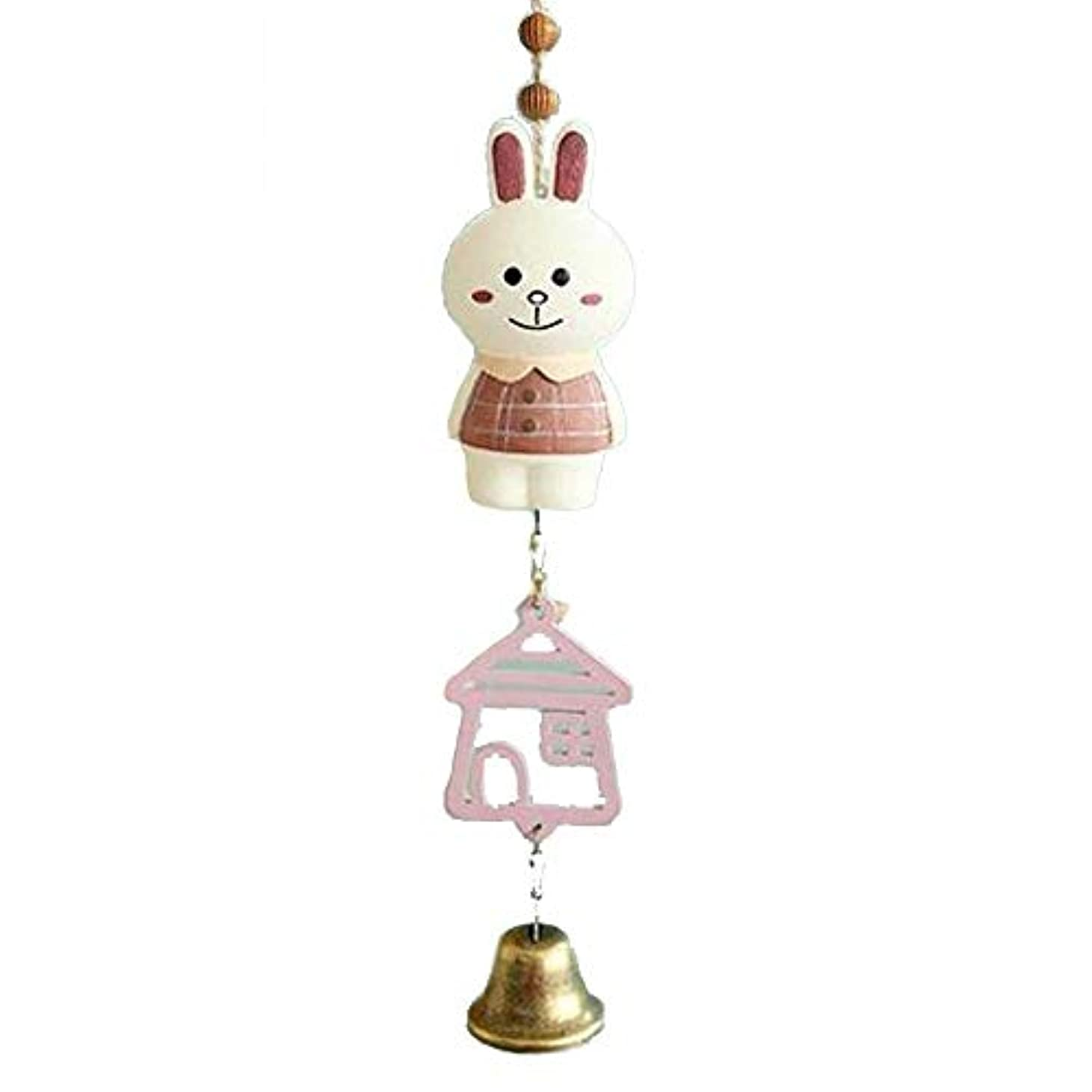 ステレオタイプ不健全天風鈴、創造的なかわいい動物風鈴、女の子の心の誕生日プレゼント、サイズ、5 * 23センチメートル (Color : White)