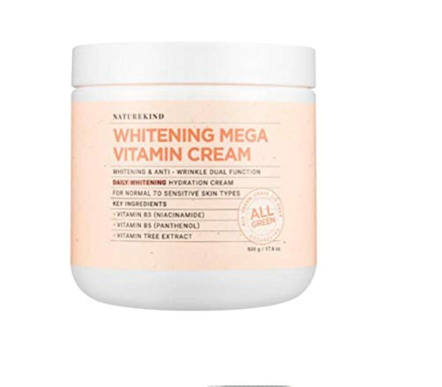 流行浮く公平NATUREKIND MEGA VITAMIN CREAM ネイチャーカインド高濃縮ビタミン水分保湿クリーム大容量500g(並行輸入品)