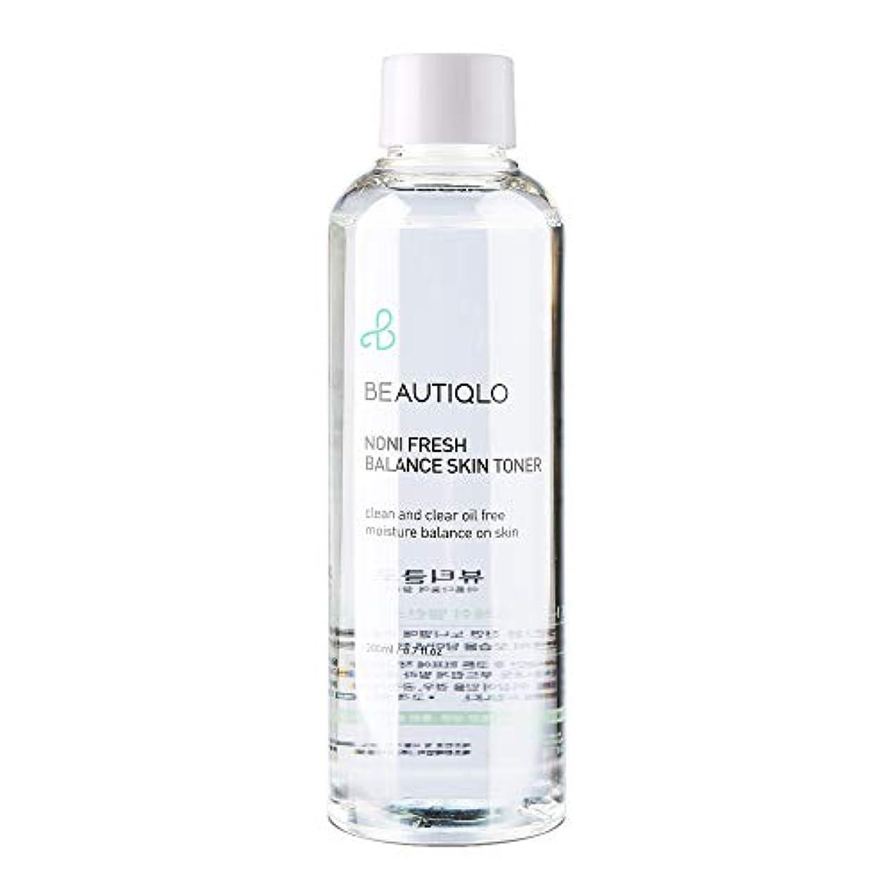 ハプニング本能好き韓国化粧品 BEAUTIQLO NONI FRESH BALANCE SKIN TONER ビューティクロ ノニフレッシュバランススキントーナー 化粧水