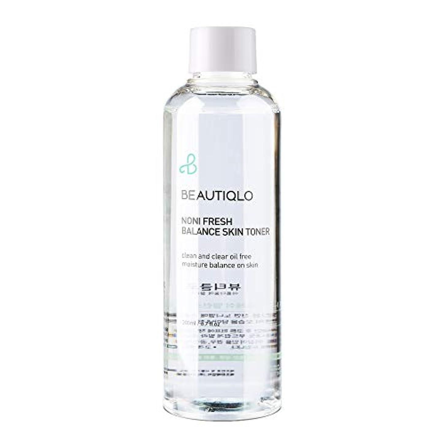 図ロビー連続的韓国化粧品 BEAUTIQLO NONI FRESH BALANCE SKIN TONER ビューティクロ ノニフレッシュバランススキントーナー 化粧水