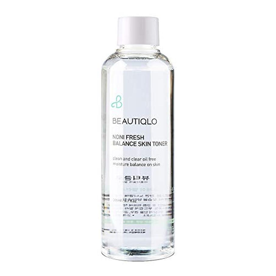 パースブラックボロウ寛容な成功した韓国化粧品 BEAUTIQLO NONI FRESH BALANCE SKIN TONER ビューティクロ ノニフレッシュバランススキントーナー 化粧水