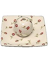 ローズガーデン 小角皿 お香立て 陶器 製造 直売品