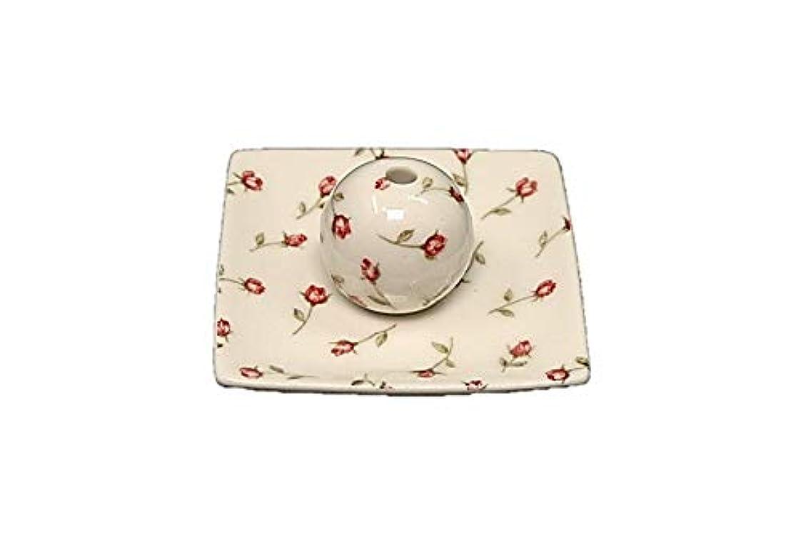 テーブルを設定する電話ラオス人ローズガーデン 小角皿 お香立て 陶器 製造 直売品
