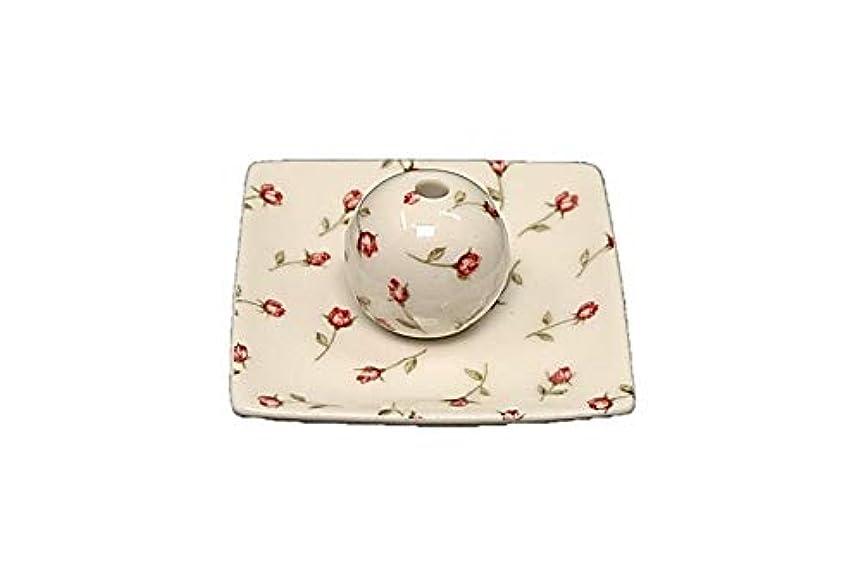 ベンチ騒々しいアンテナローズガーデン 小角皿 お香立て 陶器 製造 直売品