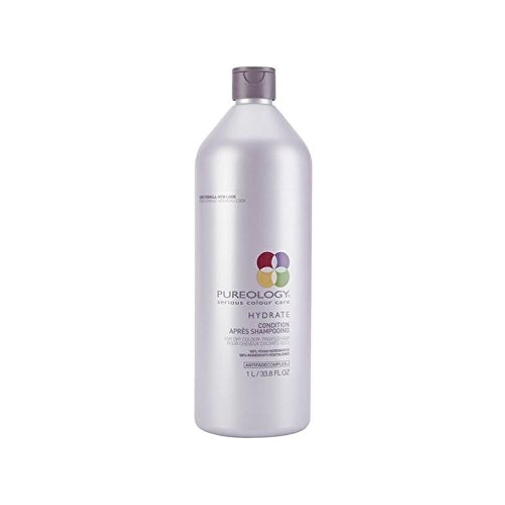 中止します一時停止袋純粋な水和物コンディショナー(千ミリリットル) x4 - Pureology Pure Hydrate Conditioner (1000ml) (Pack of 4) [並行輸入品]