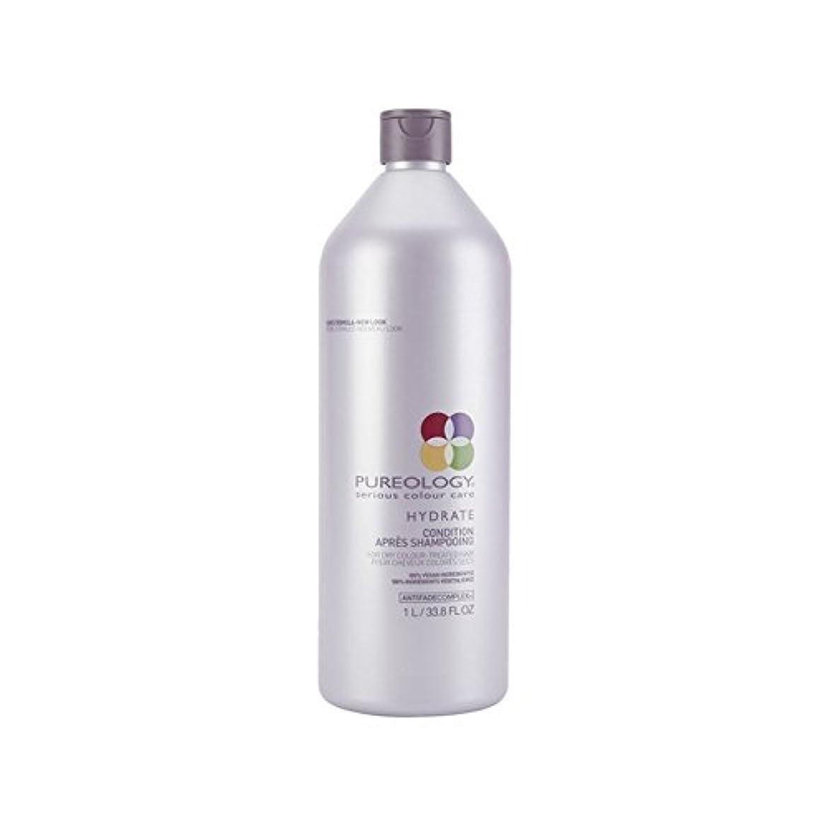 郵便番号宝石豊かにする純粋な水和物コンディショナー(千ミリリットル) x4 - Pureology Pure Hydrate Conditioner (1000ml) (Pack of 4) [並行輸入品]