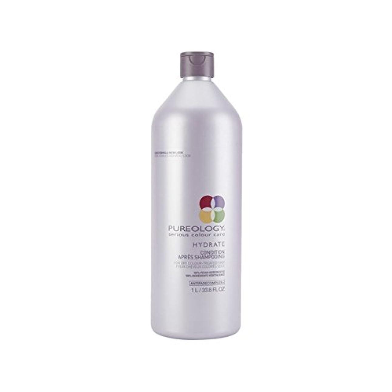 差し引く水を飲む言うまでもなく純粋な水和物コンディショナー(千ミリリットル) x4 - Pureology Pure Hydrate Conditioner (1000ml) (Pack of 4) [並行輸入品]