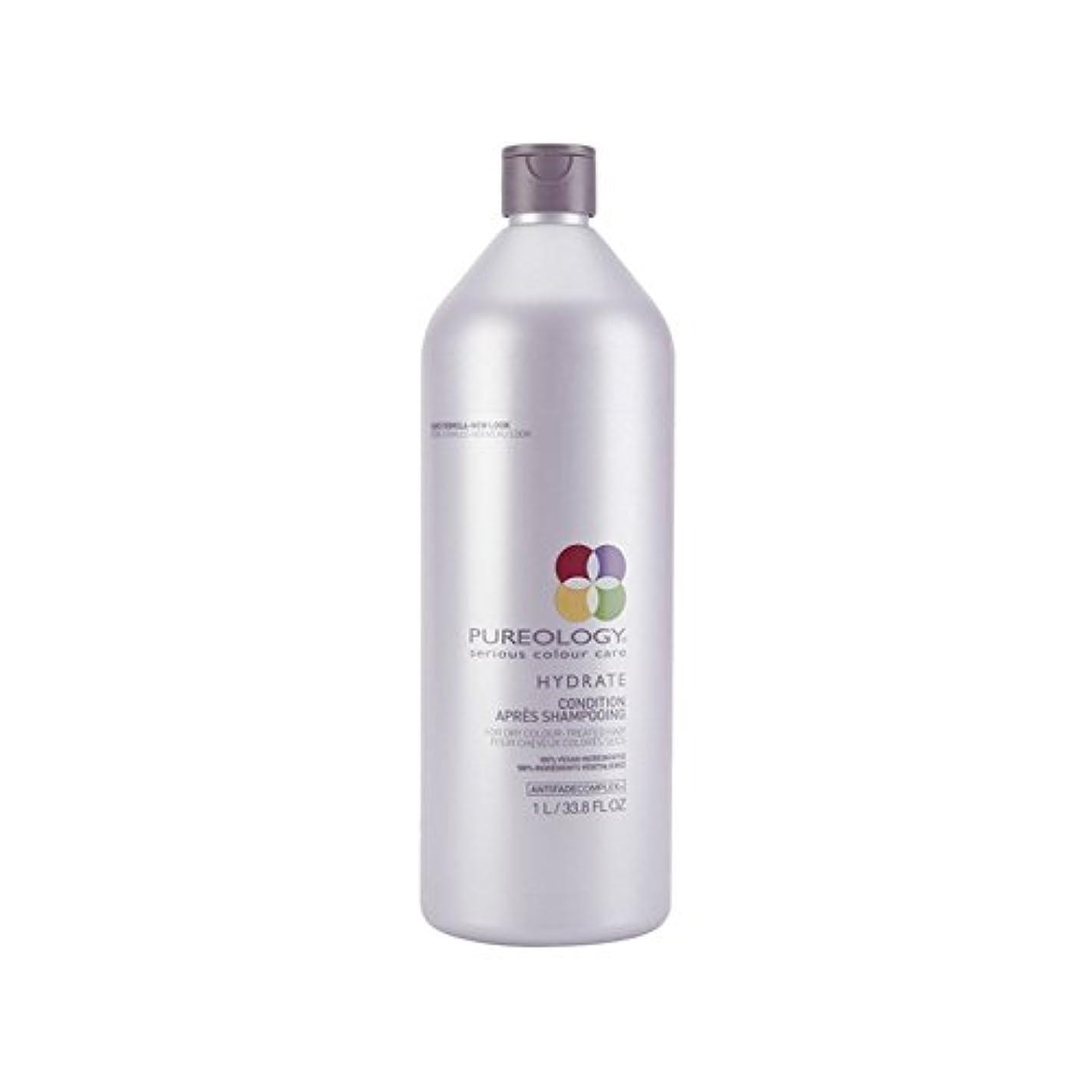 休憩無一文多年生純粋な水和物コンディショナー(千ミリリットル) x4 - Pureology Pure Hydrate Conditioner (1000ml) (Pack of 4) [並行輸入品]
