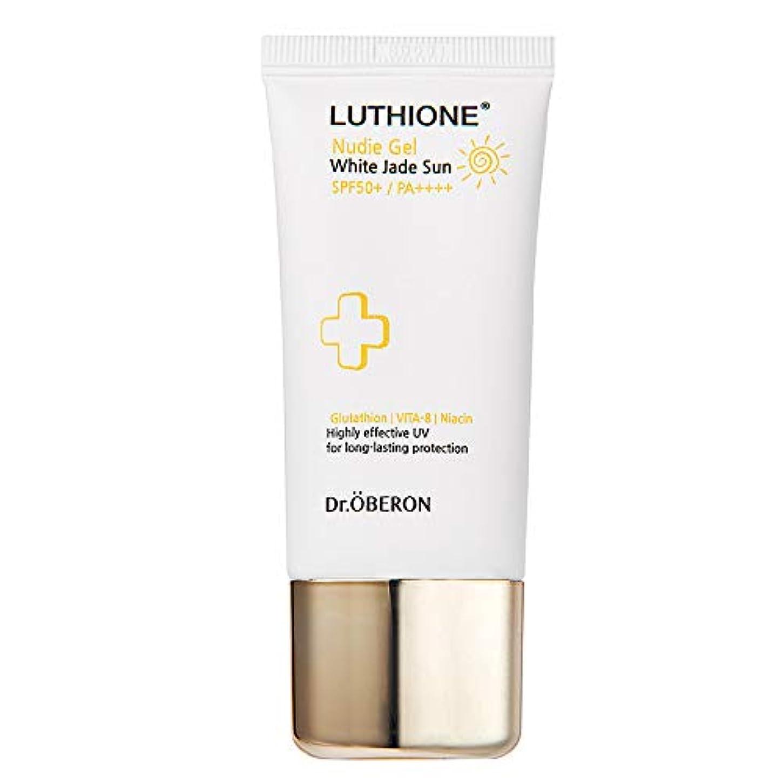 効果的にマージ氏[Luthione] ルチオン 白玉 ヌーディー 日焼け止め ジェル 30g, SPF 50+ PA++++ Nudie Gel with Jade Sunscreen - Highly Effective UV for Long-lasting Protection Korean Sunscreen