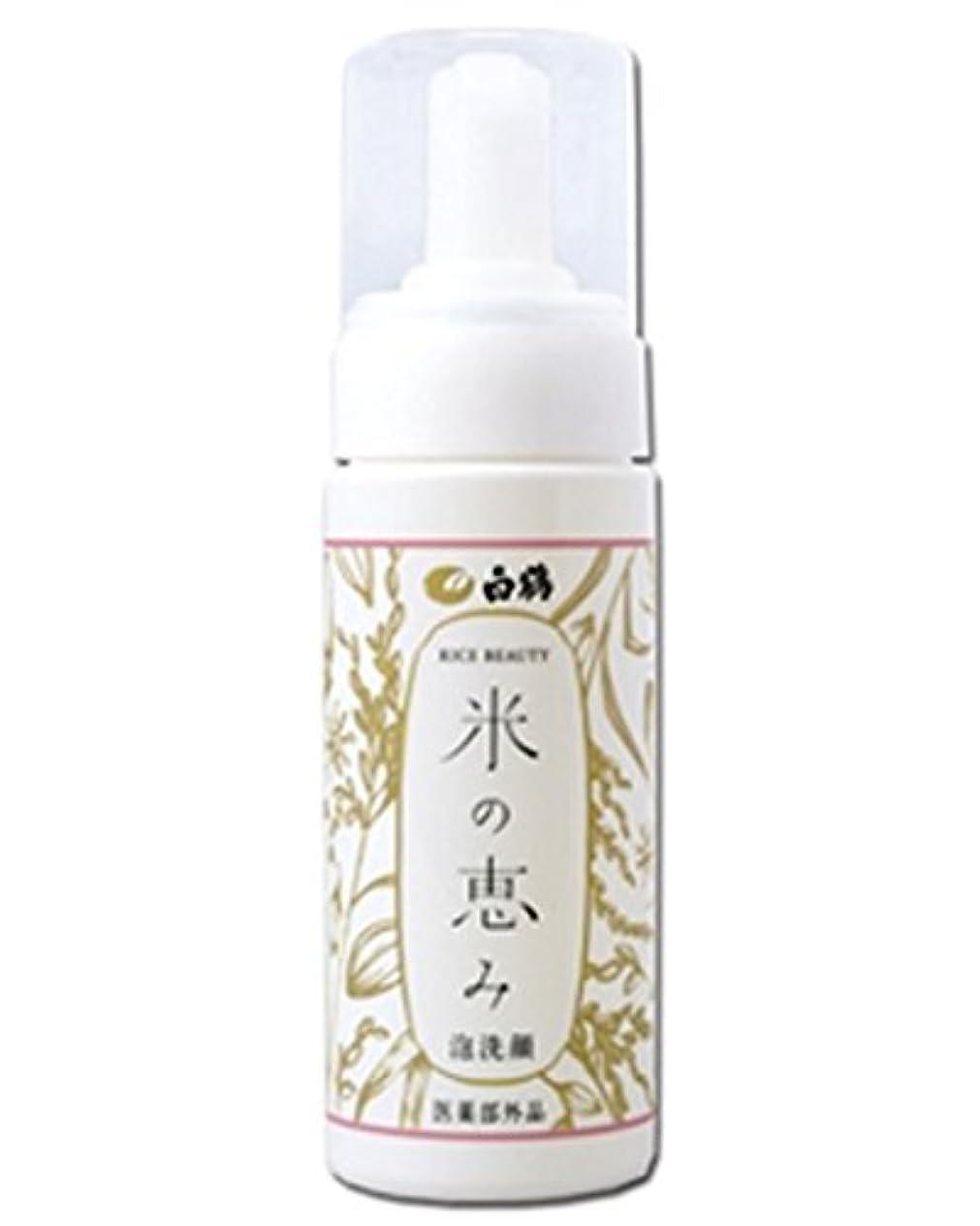 債務図書館楕円形白鶴 ライスビューティー 米の恵み 泡洗顔 150ml (医薬部外品)