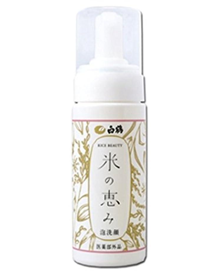 槍粗い原告白鶴 ライスビューティー 米の恵み 泡洗顔 150ml (医薬部外品)