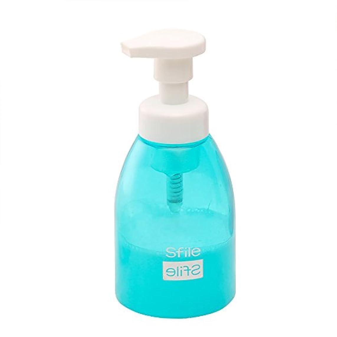 グリーンランド変化するパネル泡立てボトル/ビン/コップ 洗顔用 泡立て器 洗顔フォーム 洗顔ネット 2色 (ブルー)