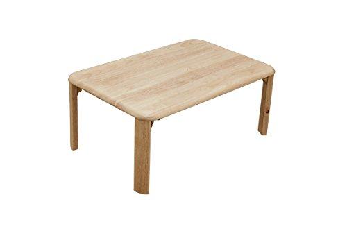 アウトレットNEWウッディテーブル 天然木製折りたたみテーブル75×50cm ナチュラル WZ-750NA