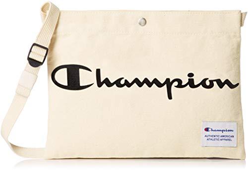 [チャンピオン] ショルダーバッグ サコッシュショルダー キャンパス地 55561 ホワイト×ブラック