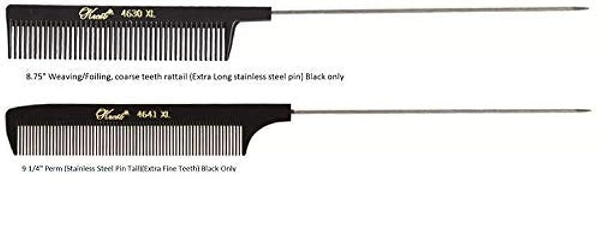 奪うコークス教育者Krest Pintail Combs 2 Pack, 4641XL-4630XL [並行輸入品]