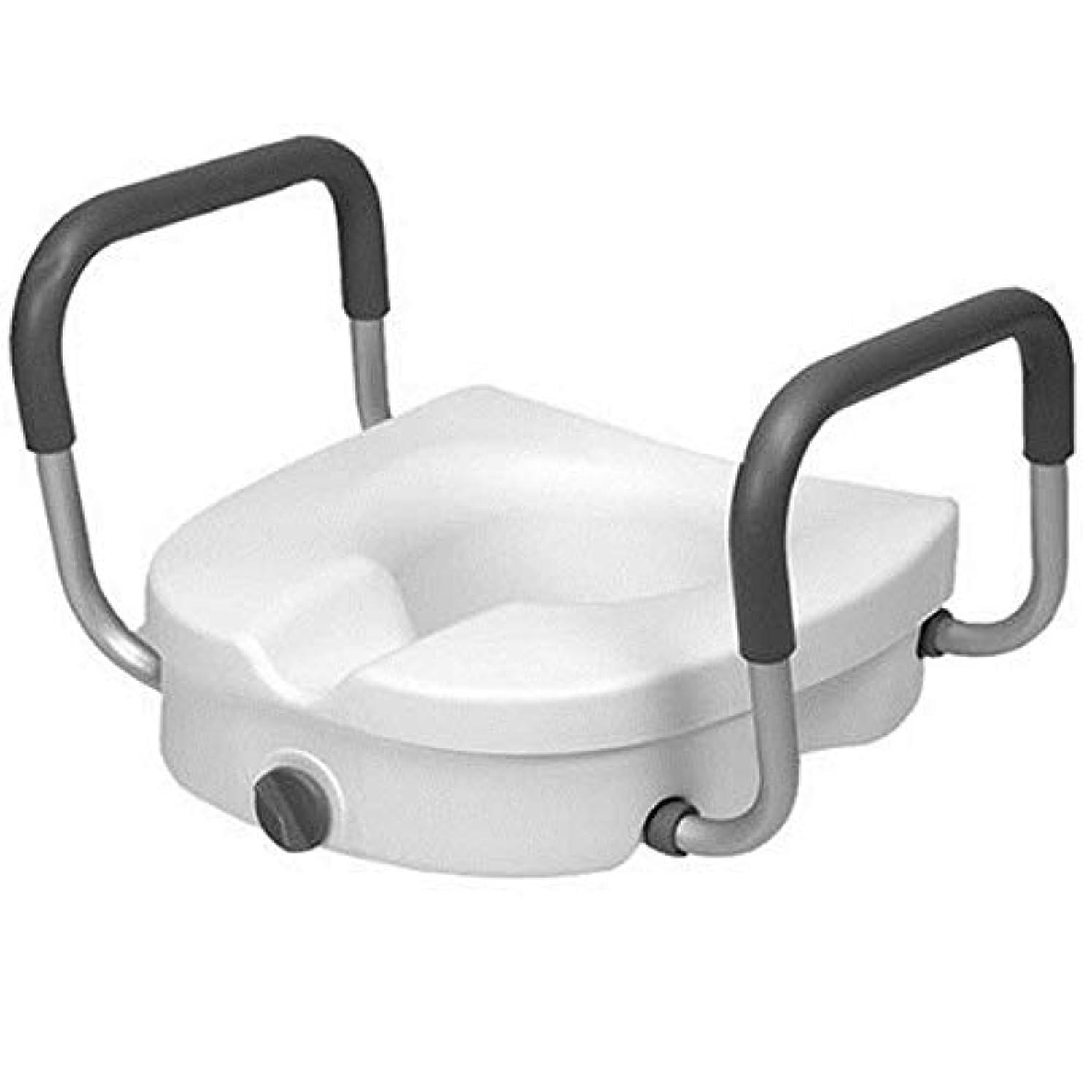 興奮部分的にとげArmrestの洗面所のブースター、洗面所の手すりのArmrestが付いている調節可能な便座