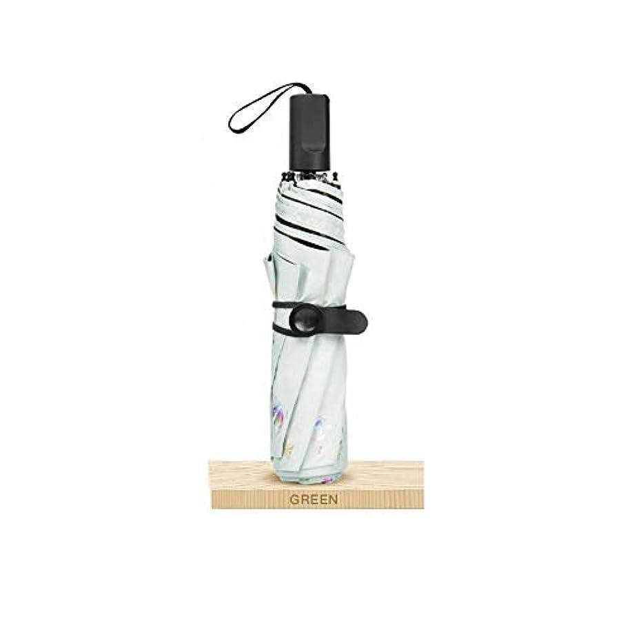 フットボール限られた脆いChuangshengnet 傘の折り畳み式の超軽量の日焼け止め防水日当たりと雨のデュアル - 使用 (Color : 白)
