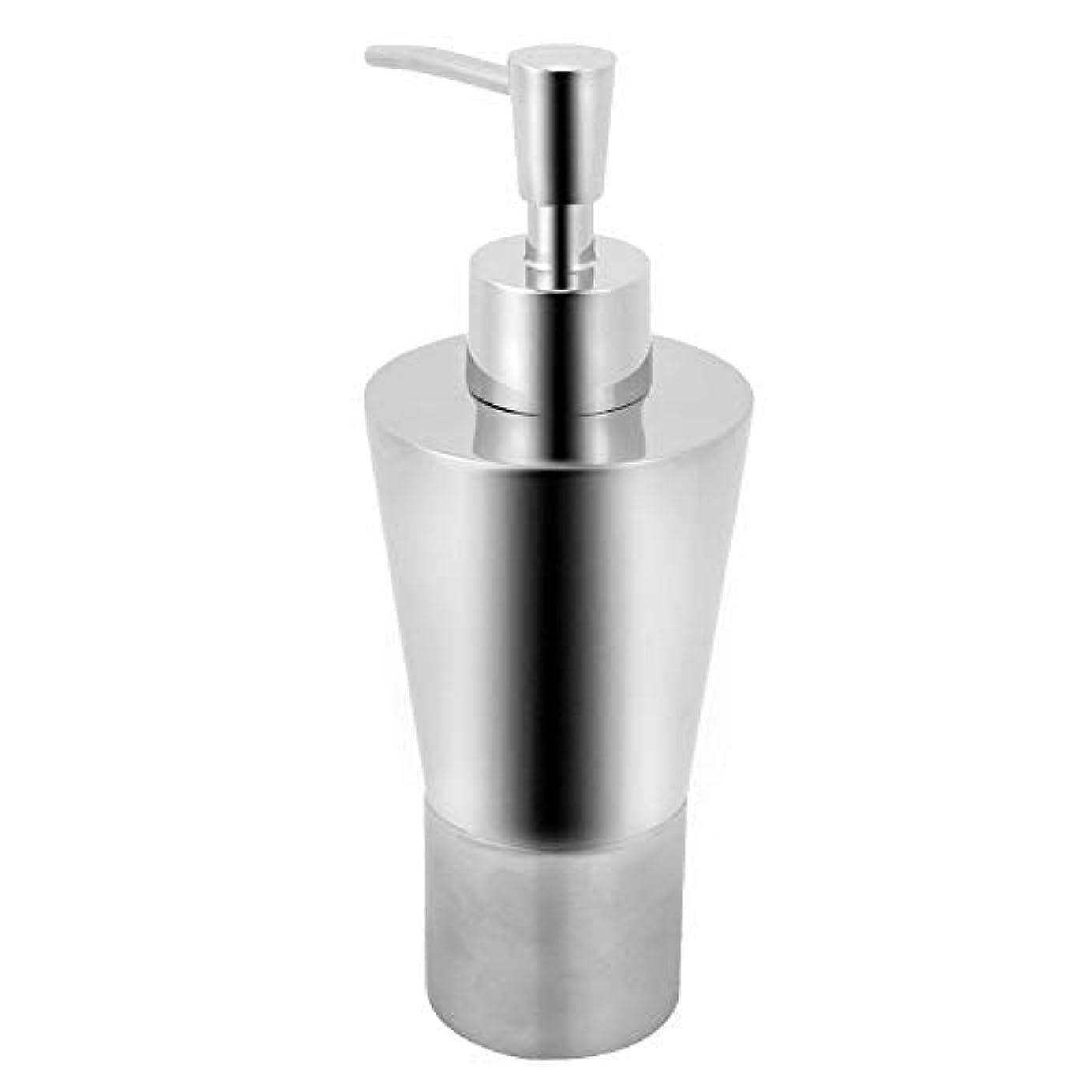 深遠可愛いコアdootiディスペンサー 詰め替え ハンドソープ 洗剤ボトル ステンレス 耐久性 防水 防錆 多種類のソープ液体に適用